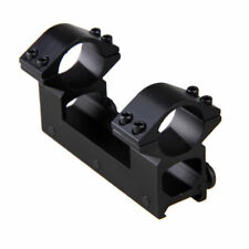 "One Piece High Profile 1"" 25.4mm Rifle Scope Dual Ring Mount 20mm Dovetail Rail"