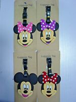 Disney Mickey Mouse Minnie Mouse PVC Luggage Labels Tags Travel Baggage Tags