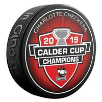 2019 AHL Calder Cup Champions Charlotte Checkers Souvenir Hockey Puck