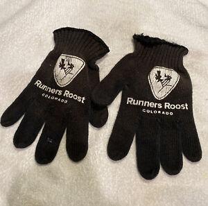Black Runner Roost Colorado Unisex Athletic Running Outdoor Training Gloves