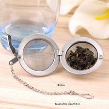 Stainless Steel Kettles Infuser Strainer Tea Locking Spice Egg Shaped  AR5JW#