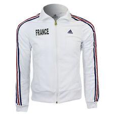 New Woman's football FRANCE ADIDAS sweatshirt ZIP TRACKSUIT TOP size M