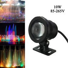 10W RGB LED Light Fountain Pool Pond Spotlight Underwater Waterproof  Black Hot