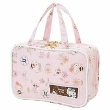 New Hello Kitty Pink Cosmetic Bag Makeup Pouch Purse Bee Hachi Japan Import