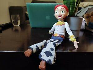 "Used Disney Toy Story Plush Toy Cowgirl Jessie Talking Stuffed Doll Figure 15"""