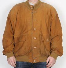 """Abrigo chaqueta de bombardero de gamuza XL XXL 46"""" Marrón años 90 (Kag)"""