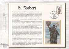 Feuillet CEF Belgique n°401 St Norbert  cachet 12-1-85  Farciennes