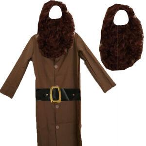 CHILDRENS KIDS BOYS WIZARD GIANT FANCY DRESS COSTUME & WIG BEARD WORLD BOOK DAY