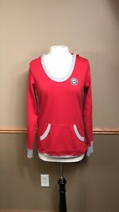 NWT Antigua NHL MN Wild Women's Red Gray Hoodie Sweatshirt Size Large