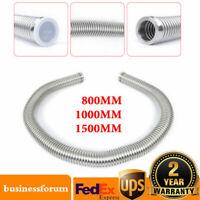 KF-40 Bellow Flexible Hose tube Length 800-1500mm Flange Vacuum Fitting SS304 US