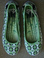 Keds Eleanor Canvas Flats Comfort Shoes Panda Print Green Size 8.5 US 39.5 EUR