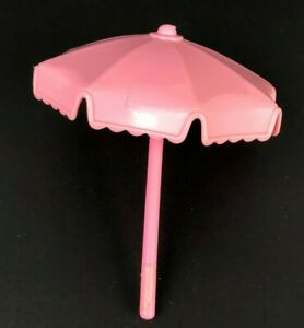 FISHER PRICE Loving Family Dollhouse PINK UMBRELLA REPLACEMENT for POOL or CHAIR