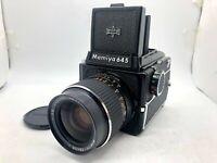 【Nr MINT+++】 Mamiya M645 + Waist level + Sekor C 55mm f2.8 + 120 Back From JAPAN