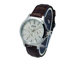 -Casio MTPV300L-7A Men's Strap Fashion Watch Brand New & 100% Authentic