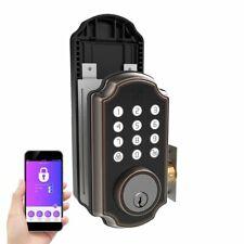Turbolock TL117 Smart Lock Keypad Digital Electric Deadbolt w/ App Voice Prompt