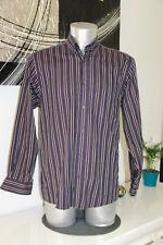 jolie chemise bleue rayée EDEN PARK rugline taille M EXCELLENT ÉTAT
