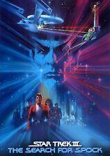 Framed Print - Star Trek III The Search For Spock Movie Poster (Enterprise Art)