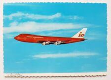 Braniff International Boeing 747 postcard