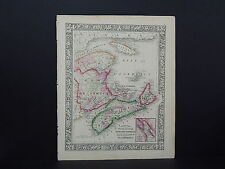 Antique Map, Mitchell, 1865 Nova Scotia, New Brunswick M8#04