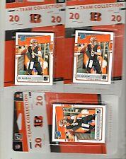 2020 Donruss Cincinnati Bengals Team Collection Sealed Set Lot (3) Joe Burrow RC