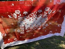 More details for vintage hand embroidered linen tablecloth leacock made in madeira xmas cloth?