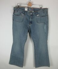 Old Navy Boot Cut Jeans Sz 20 Ultra Low Waist Distressed Flap Pocket Light Wash