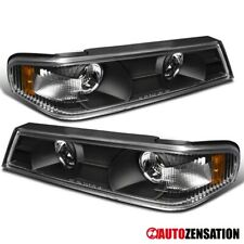 For 2004-2012 Chevy Colorado GMC Canyon Black Clear Corner Turn Signal Lights