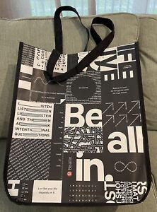 New Lululemon Large Black Reusable Shopping Tote Bag