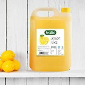 Bevelini Lemon Juice, 4 Litre -Premium Quality Lemon Juice -Lemon Juice Bevelini