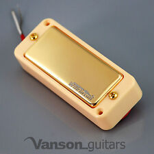 NEW Wilkinson WMHR AlNiCo V Mini Humbucker Pickup, P90, Gold, Ivory Ring