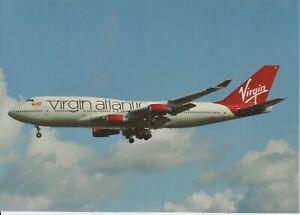 VIRGIN ATLANTIC (UK) - BOEING B-747-41R - G-VROC - 08/2010 - LHR - POSTCARD NEW
