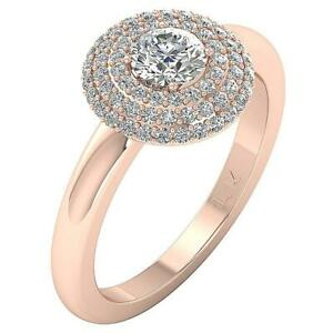 SI1 G 1.20Ct Natural Round Cut Diamond Solitaire Ring 14K White Yellow Rose Gold