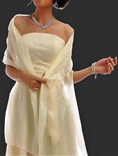 Chiffonschal Stola Schal Hochzeit Braut Abendkleid Überwurf Creme Glanz Damen