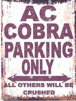 AC COBRA METAL WALL SIGN RETRO VINTAGE STYLE 8x10in 20x25cm garage workshop art