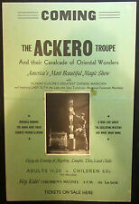 Original Ackero Troup Window Card