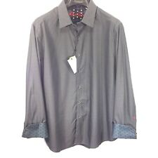 ROBERT GRAHAM Mens Long Sleeve Gray Fine Floral Button Shirt 2XL (MSRP $198)