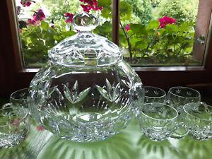 edles Nachtmann Bowle Set mit 6 Gläsern Bleikristall