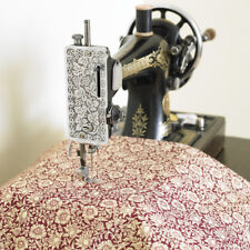 William Morris Mallow Wine Heavy Weight Cotton Floral Fabric By Half Metre