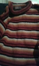 Chunky thick 100% pure wool jumper size L