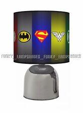 BATMAN SUPERMAN SYMBOL JUSTICE LEAGUE ☆ BEDSIDE TOUCH LAMP ☆ BOYS NIGHT LIGHT ☆