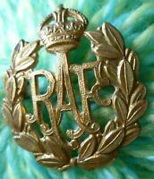 Royal Air Force Cap Badge RAF Badge KC BRASS