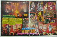 Motley Crue Nikki Sixx Tommy Lee Mick Mars Neil clippings cuttings Sweden 1980s