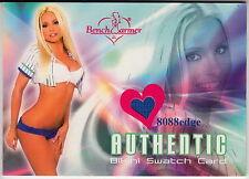 2004 BENCHWARMER AUTHENTIC BIKINI: MARY RILEY - WORN SWATCH CARD SEXY BLONDIE