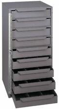 Durham Small Parts Cabinet With 9 Adjustable Compartment Drawers 2 Feet Tall