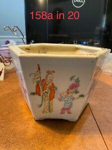 Antique Chinese Porcelain Families Rose Planter Qing