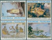 French Polynesia 1982 Sc#C197,SG382-385 19th Century Paintings set MNH