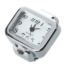 Quartz Watch Ring watch Digit Dial Arabic Rectangle White Unisex Jewelry B6E2