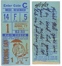 1968 Opening Day New York Mets / Giants ticket stub Shea Stadium  Koosman Seaver