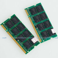 NEU 2GB 2x 1GB PC3200 DDR400 400mhz 200PIN Laptop Speicher SO-DIMM RAM free ship