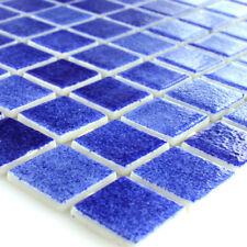 Schwimmbad Pool Mosaik Fliesen Glas Dunkelblau Mix
